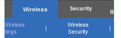 wireless router security tab
